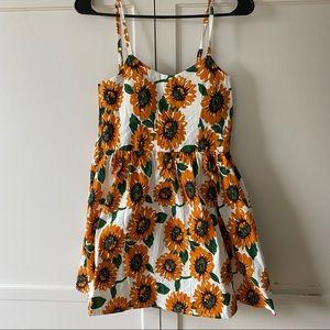 Summer sunflower dress